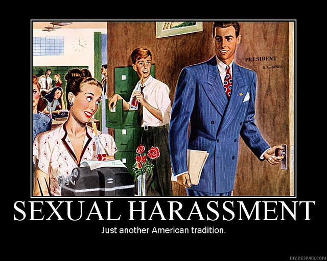 Funny sexual harassment posters for the workplace